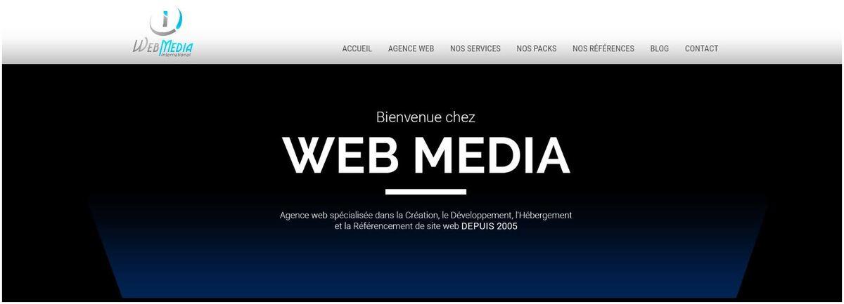 page d'accueil web medina